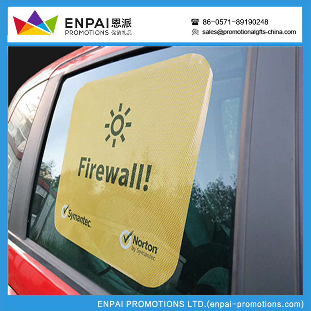 Promotional Large size static cling window film car sun shade for side window 2pcs