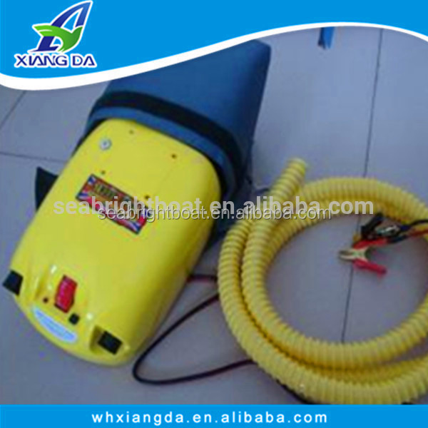 DC12V double action inflatable air pump with 12V battery for boat and tent ,12v electrical air pump for inflatable
