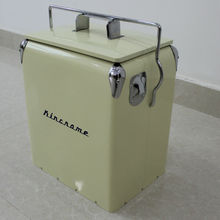 17L Steel cool chest case ice cooler box