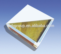 Fast installation rockwool sandwich panel made by hand