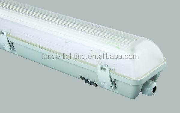 D series T8 waterproof fluorescent light fixtures IP65 with magnetic ballast from How Longer Factory