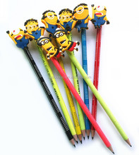 promotional cartoon colorful natural wooden pencil / pencil set