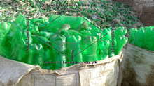 Pet bottle scrap green