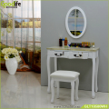 Make up dressing table and side table for laptop with mirror