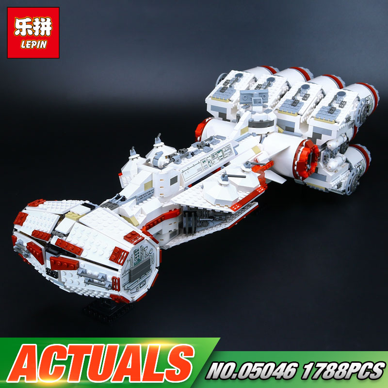 Lepin 05046 Star Series War New 1748Pcs The Star Blockade Set Runner Building Blcoks Bricks The Tantive Toys IV 10019