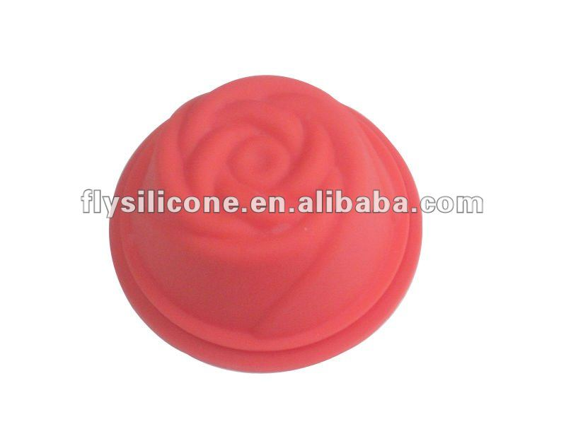 Mini Cute Rose Shaped Silicone Cake Mold/Mould for Bakeware