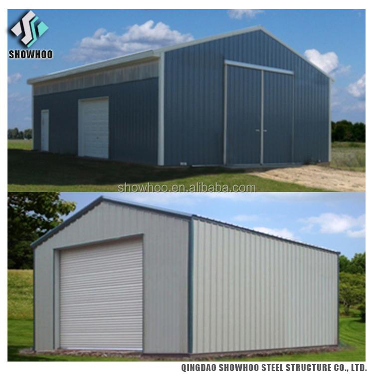 Large Span Prefabricated Steel Building Sandwich Panel Garden Shed