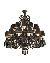 Baccarat style modern plastic colored chandeliers