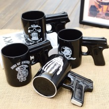 Designs Novelty Rose Skull Gun Mug Pistol Grip Cups Creative Mugs Cafe Porcelain Ceramic Tea Coffee Travel mug