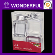 disposable plastic mini tableware