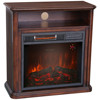 Wooden mantel infrared electric fireplace heater with led flame effect