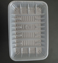 Disposable translucent plastic food tray