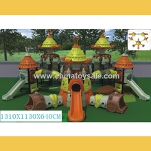 Guangzhou manufacture UFO Theme amusement rubber-coating outdoor playground equipment