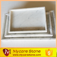 New Design Luxury Carrara white marble tray marble floral tray