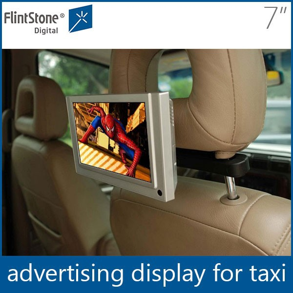 Flintstone 7 inch indoor advertising billboard control taxi roof top advertising bus roof mount tv