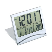 Multifunction Electronic Simple Desk Digital LCD Thermometer Calendar Alarm Clock