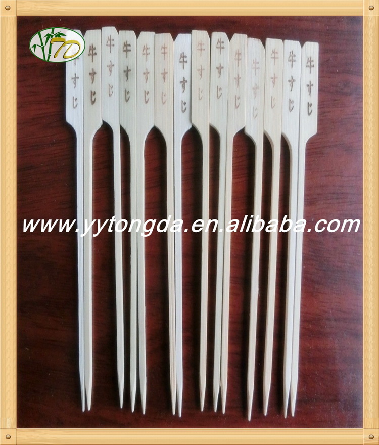 Hot new high quality bamboo knotted skewers korean bbq grill