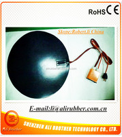 Color Black custom designed flexible silicone electric rubber heater