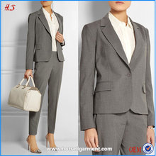 Wholesale Custom Fashion Ladies Formal Suits Blazer Designs Elegant Lady Office Uniform / Western Office Wear for Women Apparel
