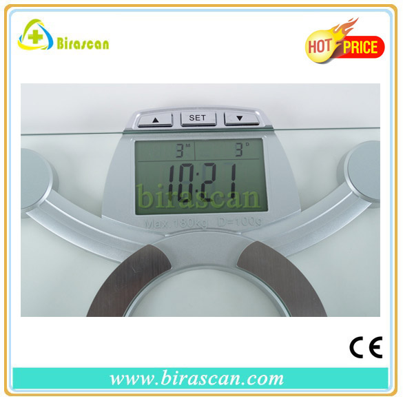 bluetooth digital body fat weighing scale with measure weight/fat/water/bone/BMI function high quality