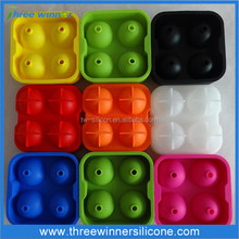 Silicone Ice Ball 4 Square Ice Cube Trays Silicone Sphere Ice Mold