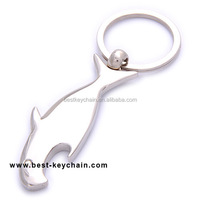 promotion gift bottle opener metal fish shaped key chain (BBK11179)