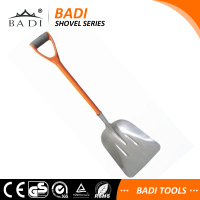 INDUSTRIAL ALUMINUM SNOW SHOVEL MUCKING OUT SCOOP WITH EXTRA WIDE HEAD