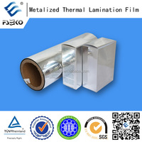 aluminum PET thermal lamination film for silver