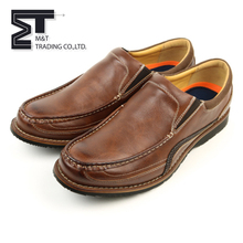 Hot sale sample fashion lace-up men's business casual leather loafer shoes
