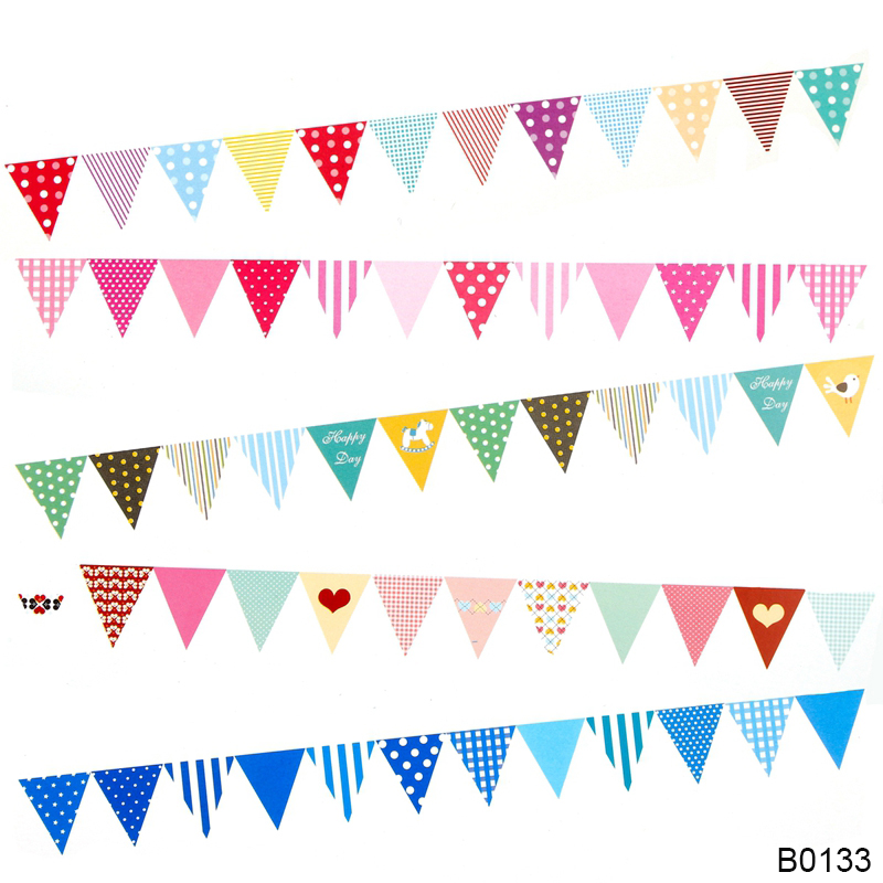 Bunting Flags Baby Shower 1st Happy Birthday Banner