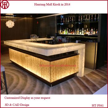 New 3d Design High Quality Wooden Wine Bar Counter With