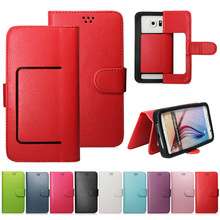3.5 Inch 4.5 inch 5.5inch 5.7 inch 6 Inch Mobile Phone Silicon Bumper Leather Wallet Flip Universal Phone Case