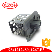 Auto Peugeot Parts Resistor Cooling Fan Blower Speed Regulator 1267A9 9641212580 for 206 307 406 Expert Partner