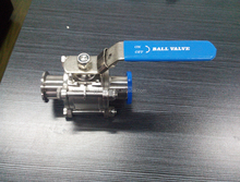 stainless steel 3 piece ball valve with mounted pad(CE,ISO)