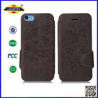 Folio Leather Case Cover for iPhone 5C