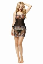 Women charming plus size lingerie, sexy nighty for fat woman