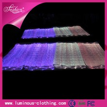 High tech optic fiber luminous 7 color fabric with fiber optic lighting