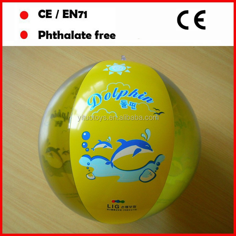 phthalate free pvc clear/opaque beach ball