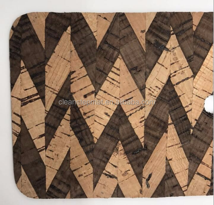 Wooden Bathroom Mat With Suction Cup, PVC Backing Mat Waterproof Transparent Custom Shape