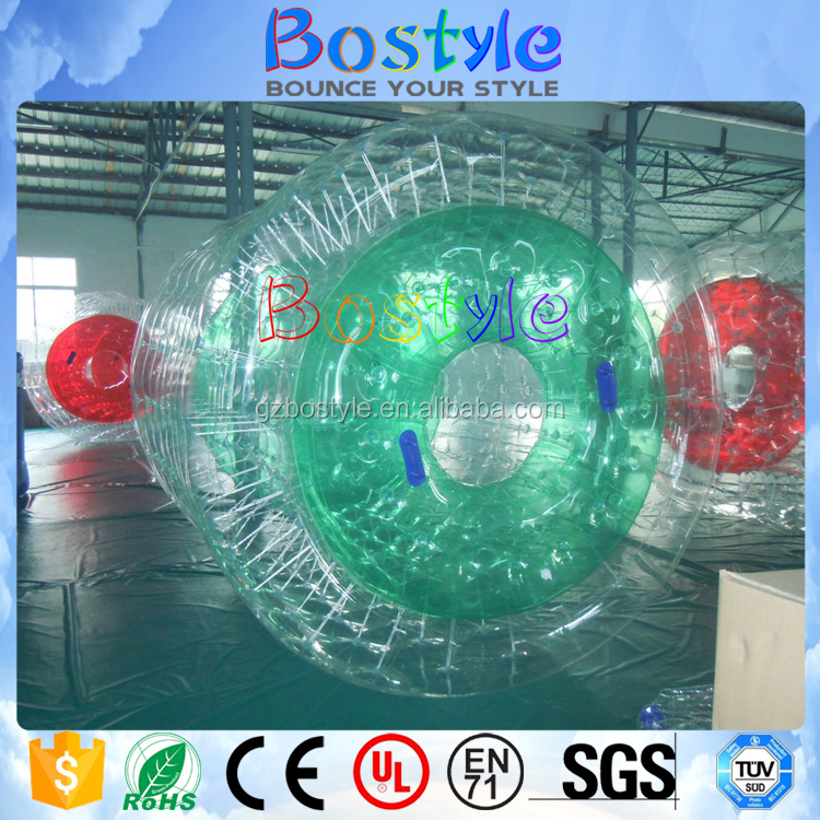 PVC/TPU floating inflatable water running ball water roller for fun