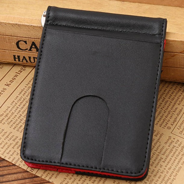 Business Men pu Leather Wallet Slim Money Clip Credit Card Holder ID Case
