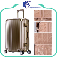 Factory stock abs alluminum luggage with spinner wheels