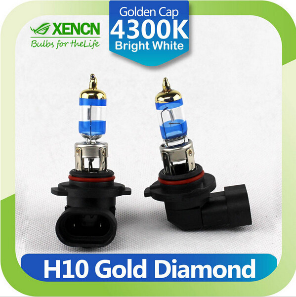 XENCN <strong>H10</strong> 12V 42W PY20D 4300K Gold Diamond Car Fog Light Golden Tip Bright White <strong>Halogen</strong> Bulb UV Filter Auto <strong>lamp</strong>