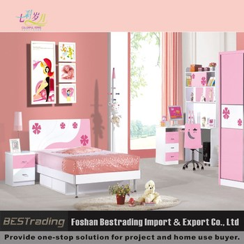 cheap kids princess bed mdf board kids bedroom furniture