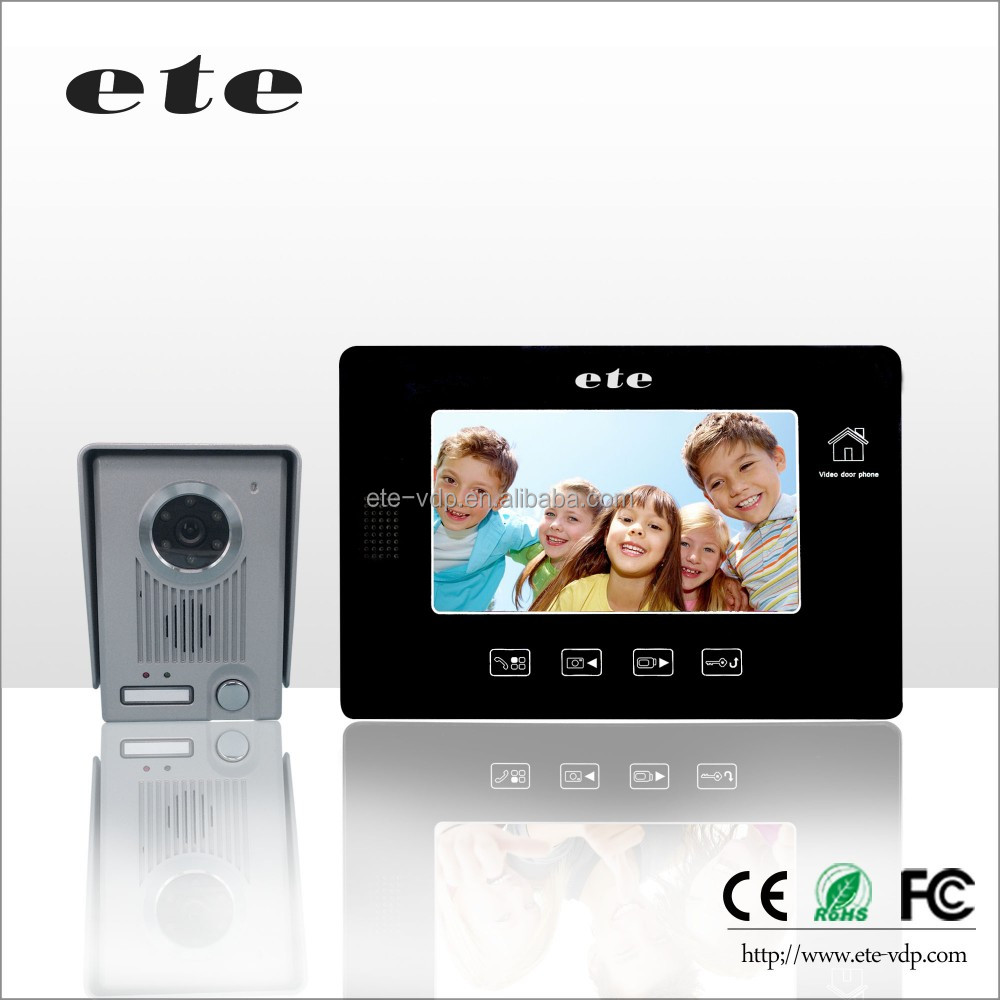 CE FCC ROHS IR night vision Access control villa 7inch video door phone VDP intercom home utility for 8 apartments