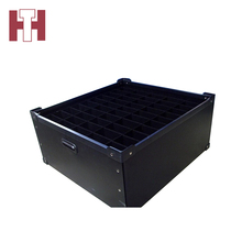 Cheap black collapsible corrugated plastic boxes packing supplies