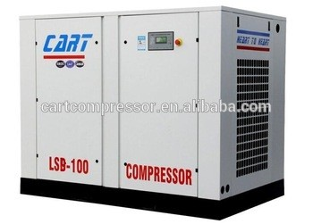 Energy-saving Rotary 75Kw 100Hp Low pressure Inverter screw air compressor