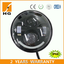 Hot Emark 48w h7 high low beam 5.75inch round harley led headlight 12v 24v motorcycle head lamp