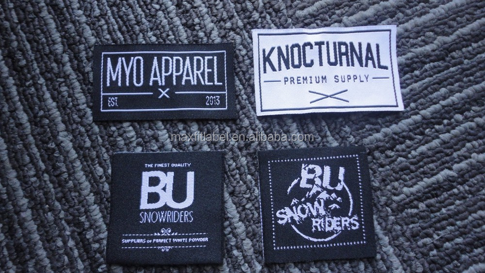 2017 High quality custom garments woven label clothing labels
