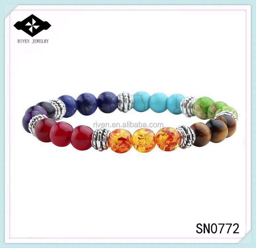 SN0772 2017 New year gift 7 Chakra Mala Bracelet Womens Yoga Healing beads Charka bracelet Beaded Jewelry gifts for her.jpg